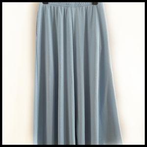 Lands' End Blue A-Line Skirt - Size M (10-12)